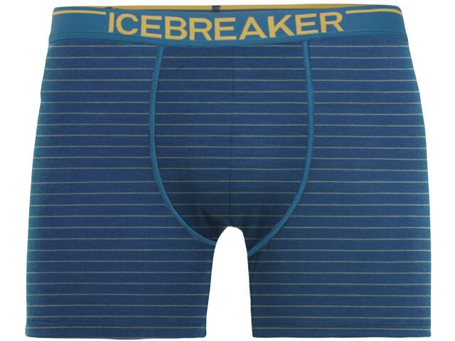 Icebreaker Anatomica Boxer Men Prussian Blue/Ginger/Stripe